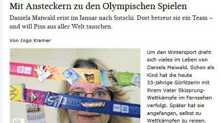 Mit Ansteckern zu den Olympischen Spielen